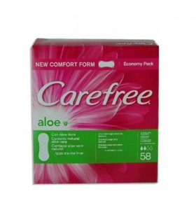 Carefree Absorbante Pantyliners Panty Aloe 58