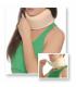 Guler cervical cu fixare uşoară si placă rigidă inserată