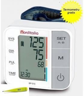 Tensiometru digital de incheietura BP 510 Norditalia + Termometru Norditalia TD21 Gratis