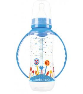 Bebeneo Biberon Anticolici 230 ml cu Tetina Silicon si Manere
