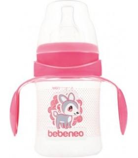 Bebeneo Biberon 150 ml cu Tetina Silicon cu Gat Larg si Manere