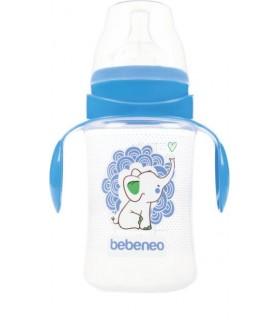Bebeneo Biberon 250 ml cu Tetina Silicon cu Gat Larg si Manere