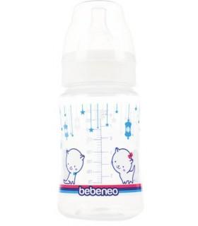 Bebeneo Biberon 250 ml cu Gat Larg si Tetina Silicon