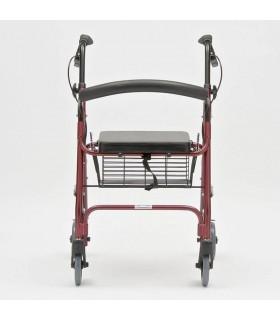 Rolator pliabil cu 4 roti, frana, scaun si cos, din otel Dr. Happy JL966LH