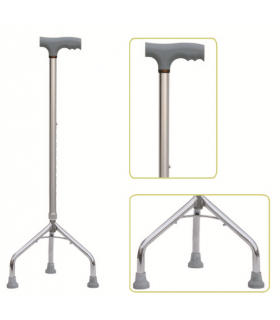Baston din aluminiu cu trei picioare Dr. Happy JL 926