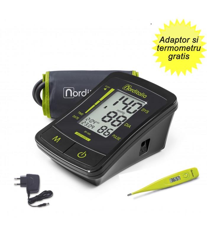 Tensiometru digital de brat complet automat BP 1000 Norditalia + Adaptor 220V si Termometru Norditalia TD21 Gratis