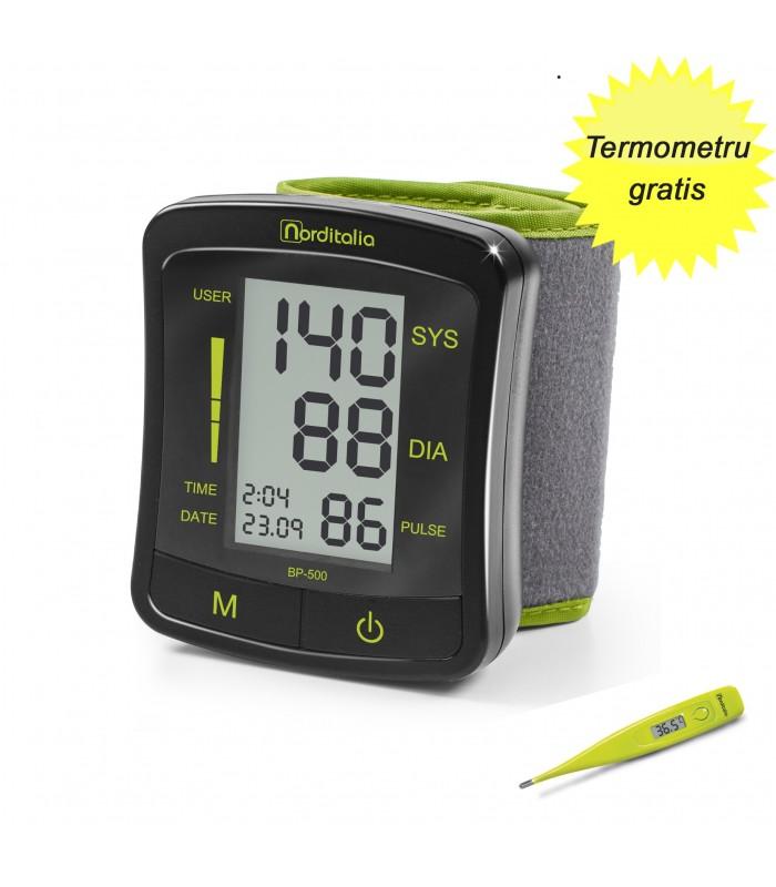 Tensiometru digital de incheietura BP 500 Norditalia + Termometru Norditalia TD21 Gratis