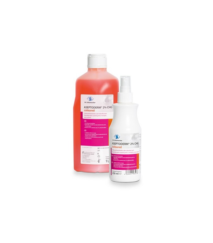 Aseptoderm 2% CHG (colorat)