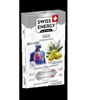 Swiss Energy Pastile pentru Gat cu Salvie + 20 Ierburi Alpine