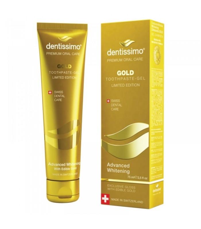 PASTA DE DINTI DENTISIMO, ADVANCED WHITENING GOLD 75 ML