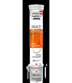 Swiss Energy Tablete Efervescente cu Biotin si Multivitamine