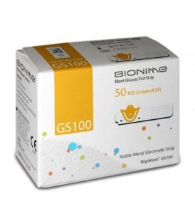 Pachet Promo - 4 cutii Teste pentru măsurarea glicemiei Bionime GS 100