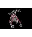 Rolator plibabil din aluminiu cu patru roti Antar AT51017