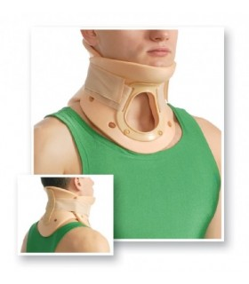 Guler cervical rigid cu orificiu traheal