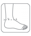 Bandaj pe glezna cu fixare suplimentara (elastic)