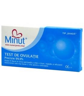 Test Ovulatie Minut kit 5 buc + 1 test sarcina Gratis